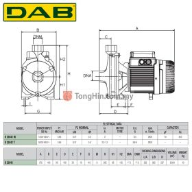 DAB K20/41T Three Phase Single Impeller Centrifugal Water Pump