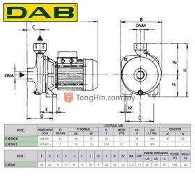 DAB K36/100T Three Phase Single Impeller Centrifugal Water Pump