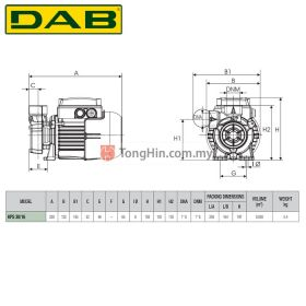 DAB KPS30/16M Peripheral Centrifugal Water Pump