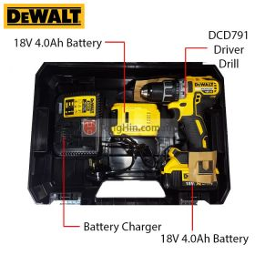 DEWALT DCD791M2-B1 18V Cordless Driver Drill with Battery Charger & 4.0Ah Battery