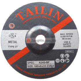 "TAILIN 7"" Grinding Disc 180 x 6.0 x 22.23mm Metal"