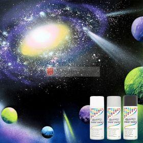 GALAXY Spray Paint 400ml - Black, Silver, White Colour
