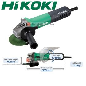 "HIKOKI G10VE Electronic Angle Disc Grinder with Brushless Motor 100mm (4"")"