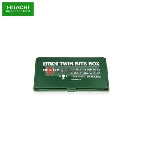 HITACHI Twin Bits Box 19 Pieces with Magnetic Bit Holder