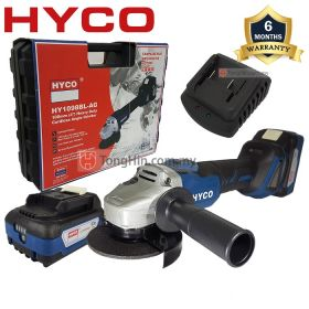 "HYCO HY1098BL-AG Cordless Brushless Angle Grinder 4"" with 18V 4.0Ah Battery & Charger"