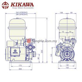 KIKAWA KP825NT Regenerative Pressured Controlled Automatic Booster Water Pump 0.5HP