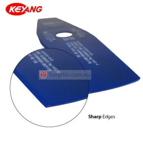 KEYANG SKS-51 Brush Cutter Blade 300 x 80 x 25.4mm Blue