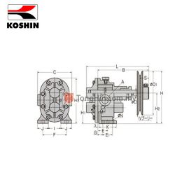 KOSHIN GC-25 Cast Iron Gear Pump 1""
