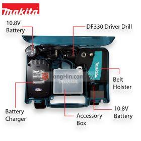 "MAKITA DF330DWE 10.8V Cordless Driver Drill 10mm (3/8"")"