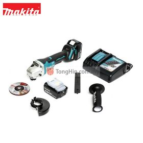 MAKITA DGA405RFE 18V Cordless Angle Grinder 100mm (4 inch) with Paddle Switch with 3.0Ah Battery & Charger