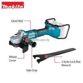 "MAKITA DGA700Z 18Vx2 Cordless Angle Grinder 180mm (7"")"