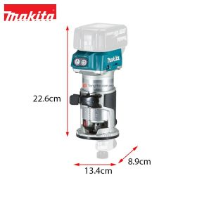 "MAKITA DRT50Z 18V Cordless Router Trimmer 6mm (1/4""), 8mm (3/8"")"