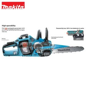 "MAKITA DUC353Z 18Vx2 Cordless Chainsaw 350mm (14"")"