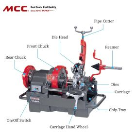 "MCC 800 Pipe Threading Machine (1/4""-3"")"