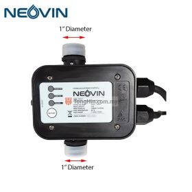 "NEOVIN P86H1 Automatic Pressure Controller for Water Pumps 1100W 1"" x 1"""