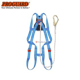 PROGUARD Ecosafe Full Body Harness Built-in Lanyard & Large Hook BH7886-CBU-LOH