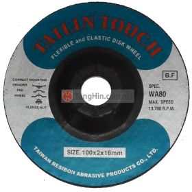 Tailin 4'' Flexible Grinding Disc (100 x 2.0 x 16 mm WA80)