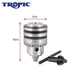 """TROPIC ET13 Keyed Drill Chuck Adaptor 16mm (1/2"""" x 20UNF) with Chuck Wrench"""