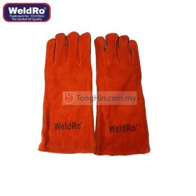 "WELDRO Welding Hand Glove 13"" Red"